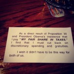 tip card